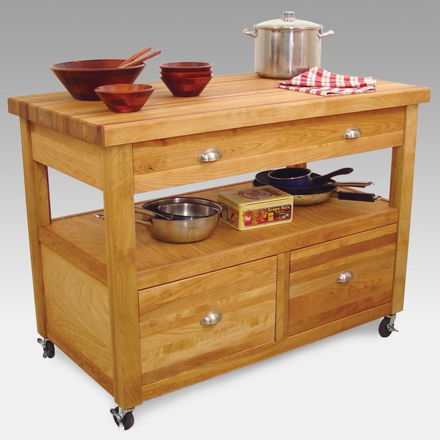 Grand Americana Kitchen Cart & Workcenter Traditional