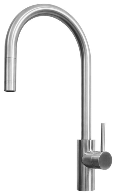 Alton Series FAL400SS Stainless Steel Single-lever Pull-out Kitchen Faucet contemporary-kitchen-faucets