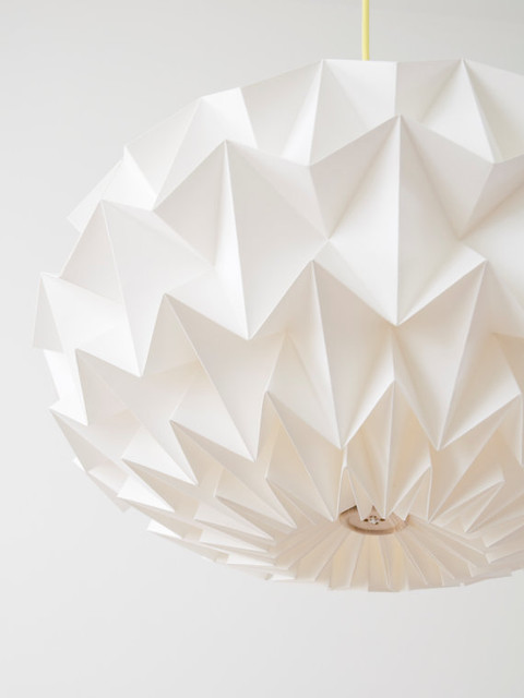 Signature White Paper Origami Lampshade, Size XL by Studio Snowpuppe modern-lamp-shades