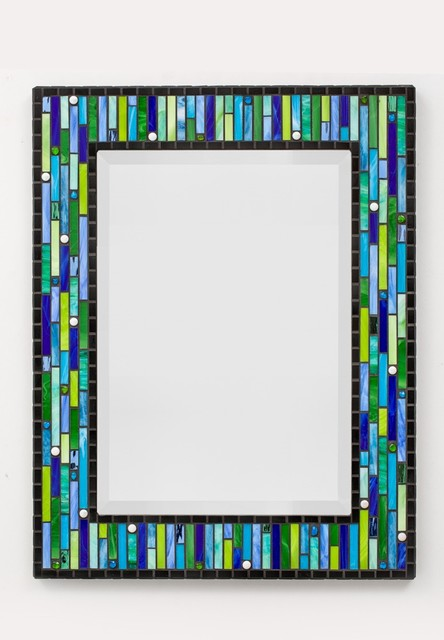 New Classic Collection Mosaic Mirrors  Contemporary  Bathroom Mirrors