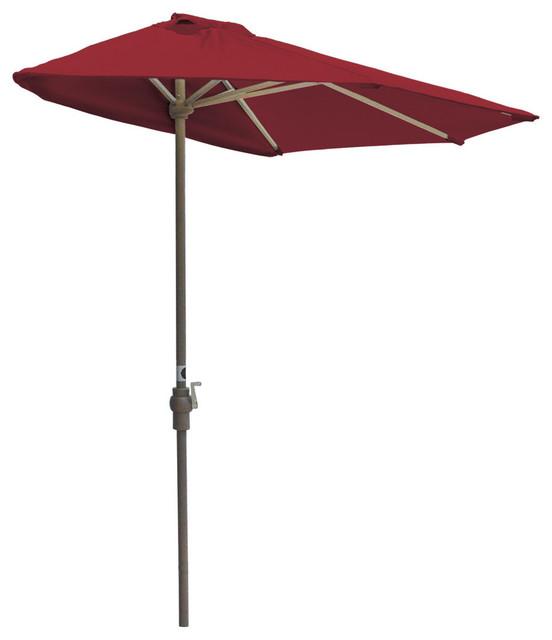 OFF THE WALL BRELLA 9 Ft Half Umbrella Red Sunbrella