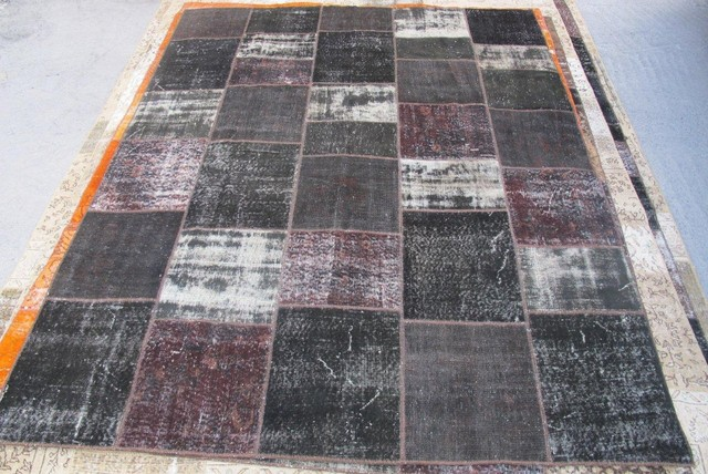 PATCHWORK RUGS Made from Overdyed Vintage Turkish Carpets contemporary rugs