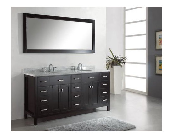 Caroline Bathroom Vanities - The Caroline Avenue Bathroom Vanities Series is designed with a bold clean style and built with strong, countertop notch materials. It offers a great quantity of storage space and state of the art technology with its soft closing doors and drawers. With Caroline Avenue Bathroom Vanities elegant one inch thick Italian marble countertop this bath vanity cabinets offers beauty and practicality