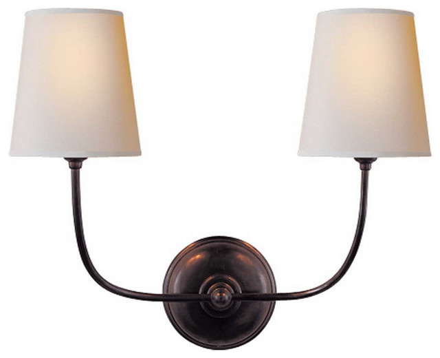 Vendome double sconce for Traditional bathroom vanity lights