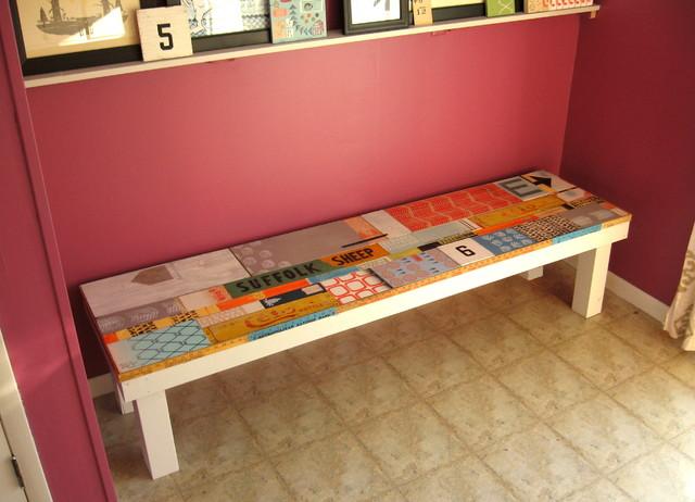 Reclaimed Wood Bench modern