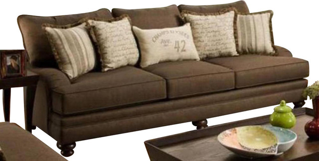 Chelsea Home Marilyn Sofa in Stoked Chocolate traditional-sofas