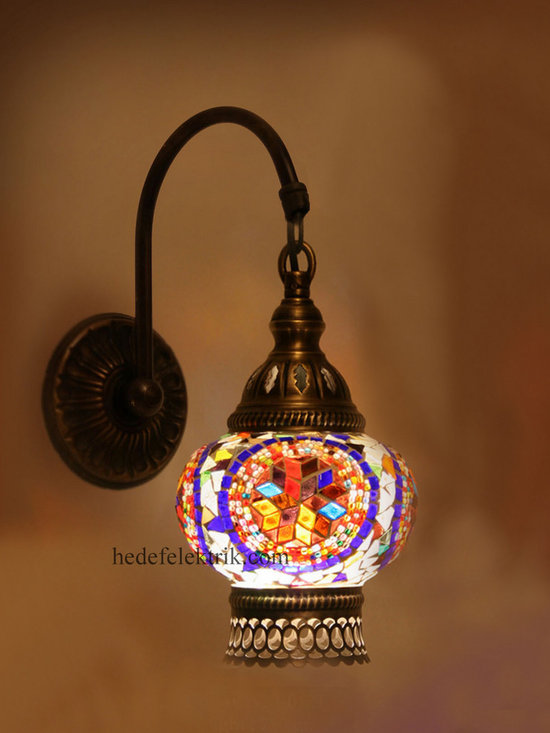 Purple Turkish Style Mosaic Lighting Wall Sconce - Code: HD-20003_02