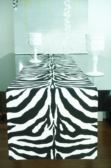 Black & White Zebra Table Runner - - table linens - new york - by ...