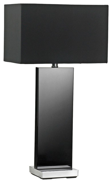 Vista Black Crystal Table Lamp Contemporary Table