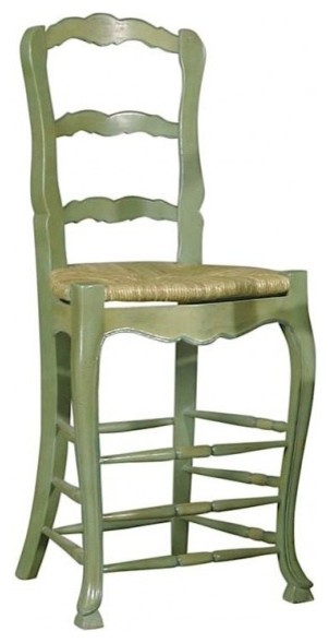Furniture classics antique green french country bar stool