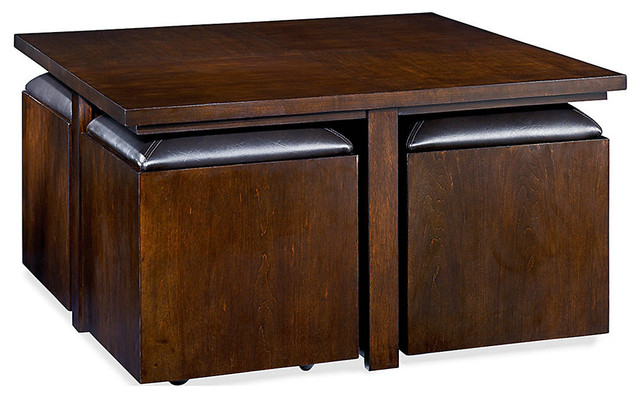 Cubics Square Cocktail Table Transitional Coffee Tables By Smartfurniture