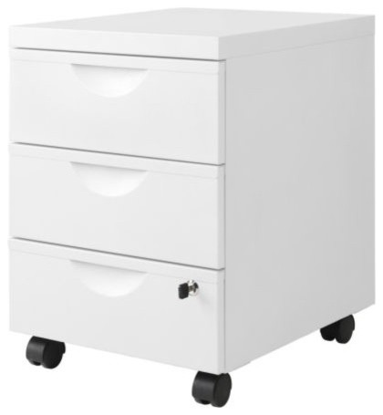 ERIK Drawer unit w 3 drawers on casters - Scandinavian - Filing Cabinets - by IKEA