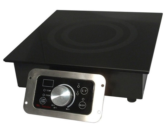 SPT Appliance - 1800W Built-In Commercial Induction Range - SmartScan� technology: voltage, pan size and type recognition. 5mm thick tempered glass cooktop. Choice of power or temperature mode . Power mode: 1-20 levels (350-1800W) . Temperature mode: 90-440�F (in 20�F increments, except 170-180/260-270/350-360�F). Large LED power/temp display. Displays in �F or �C. Simple knob-set thermostat control. Touch-sensitive control box with stainless steel frame . Power ON/OFF touch pad with indicator light. Cook & Temp mode indicator lights. Over or under voltage protection. FCC / CETL / ETL-Sanitation to NSF-4. Built-in range with installation-ready modular flanged base. Separate control panel with 40 in. cable for easy front mounting. 100% silicon rubber protective top seal. 6' power cord lengthCustomize your food service facility and revolutionize your food preparation with the most advanced commercial induction equipment available. Ideal for demonstration cooking, suite service, catering and buffets. Features SmartScanT enhancement and COOK and TEMP modes. Separate control for remote mounting. Restaurants use only.