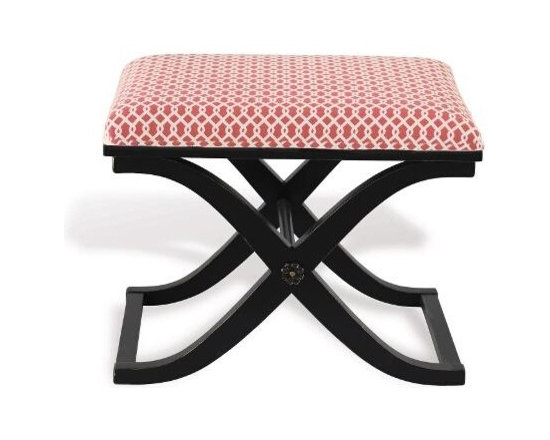 Port 68 - Port 68 Alex Antiqued Black Bench-Gazebo Pink - Finish: Antiqued Black