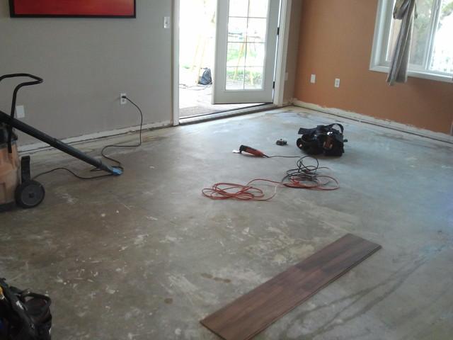 Before Laminate Flooring In Living Room