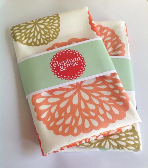 Designer Tea Towel Floral Print By Elephant Amp Rose