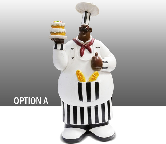 black chef kitchen statue figure table art decor option a traditional kitchen products by. Black Bedroom Furniture Sets. Home Design Ideas