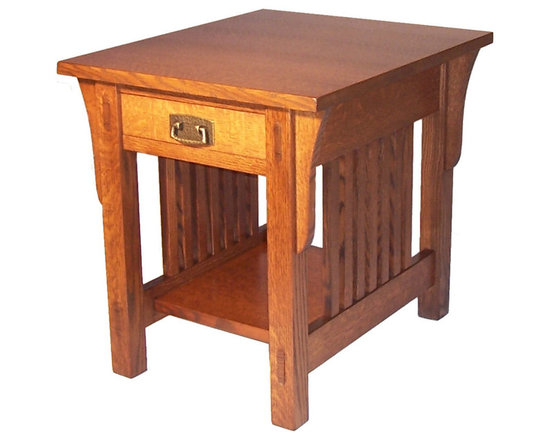 """Mission End Table - Features mortise & tenon and wedged through mortise & tenon construction. Can be made in many sizes, woods etc. Shown in Quarter sawn White Oak. Size shown is 21""""x25""""x24"""" high"""