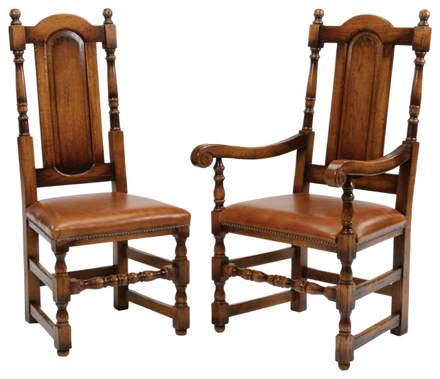 Panel Back Barley Twist Back Dining Chair traditional-dining-chairs