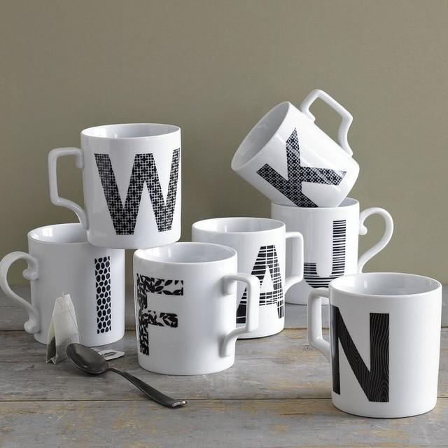 Alphabet Mugs modern-mugs
