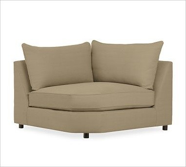 PB Comfort Upholstered Wedge, Knife-Edge Cushion, Polyester Wrap Cushions, Brush traditional-decorative-pillows