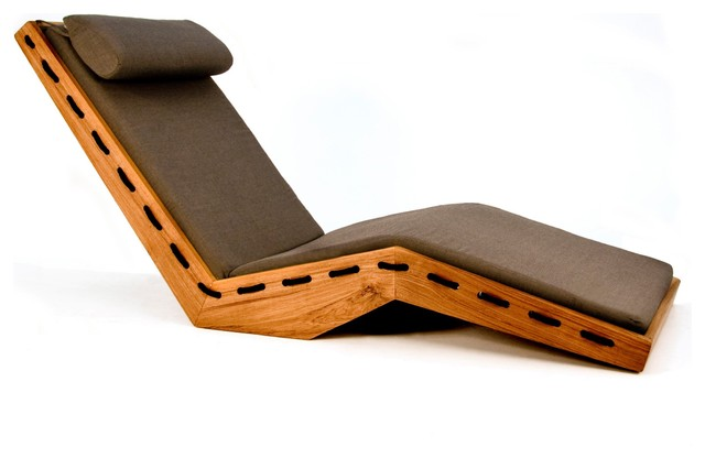 Lauser Outdoor Lounge Chair contemporary-outdoor-chaise-lounges