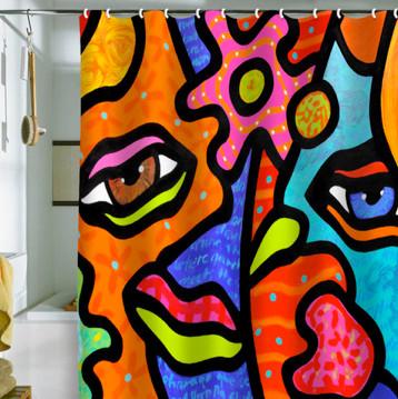 """Flower Market"" Shower Curtain contemporary-shower-curtains"