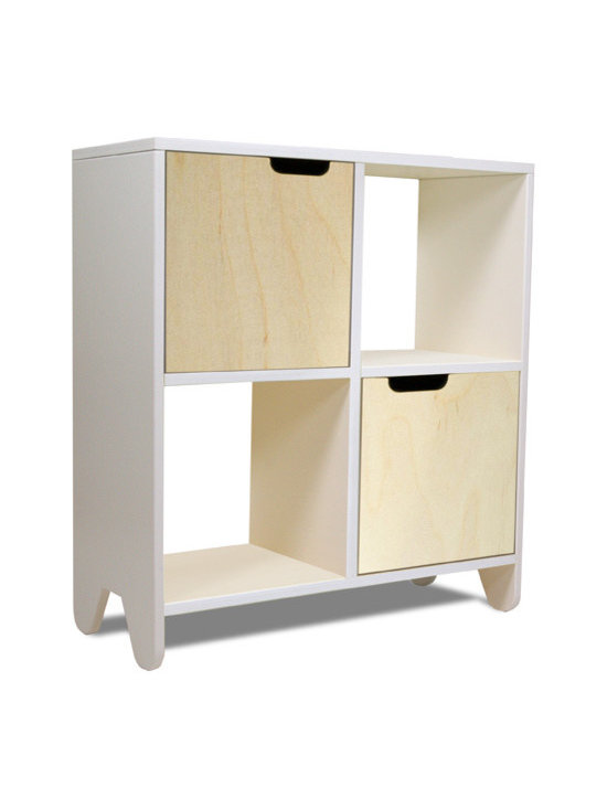 Spot on Square - Hiya Book Shelf, Birch - Designed by Bob Springer, part of the Spot on Square Hiya Collection. Meets or exceeds US mandatory and voluntary safety standards developed by the ASTM (American Society for Testing and Materials).