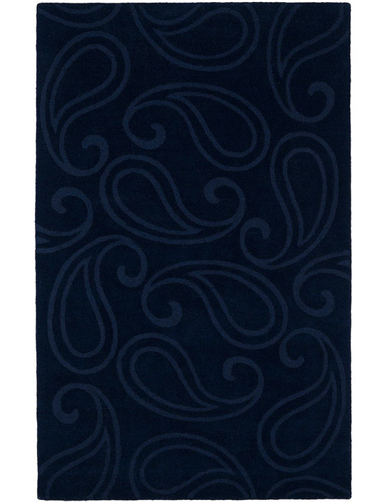 Kaleen - Imprints Classic Ipc05 Navy Rug - Imprints Classic, where textiles meet fashion. Modern textile designs and todays hottest colors combine to meet the new evolution of this beautiful collection. Straight off the runway and into your home each rug is handmade in India of 100% Virgin Wool.