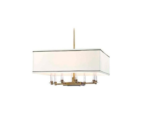 Hudson Valley Lighting Collins Transitional Chandelier - I love the clean, classic lines on this chandelier.