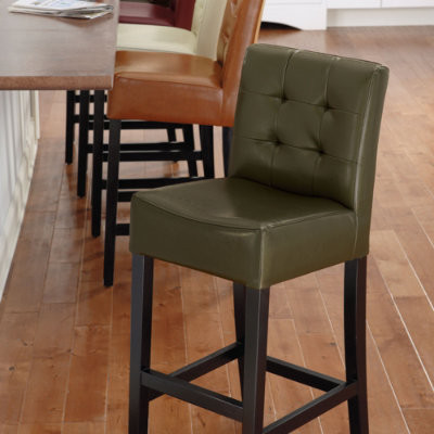 Chester Leather Bar Stool Traditional Bar Stools And