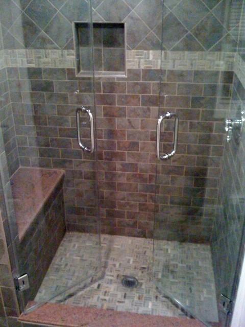 Frameless Shower Enclosure French Doors showers