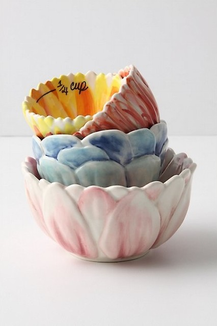 Florist Measuring Cups - Anthropologie.com contemporary-measuring-cups-and-spoons