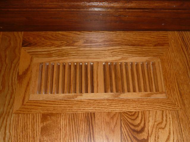 Red oak stained for Red oak hardwood flooring