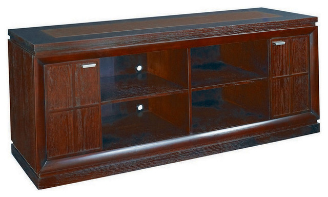 Hammary Kanson Entertainment Cabinet in Oxblood Finish traditional-media-storage