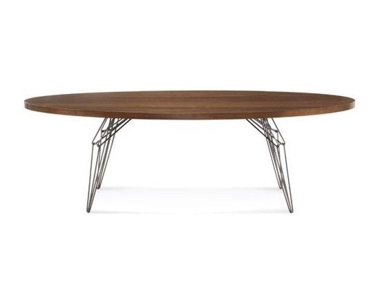 Saloom Furniture - Saloom Furniture | LEM 92-In. Ellipse Dining Table - Design by Peter Francis.