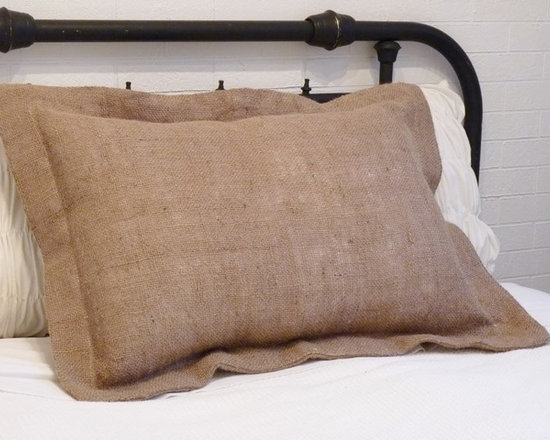 Home Decor Products - Burlap pillow sham for standard size pillow
