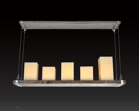 Verona Wood and Iron Light Collection - Our Verona Collection of lights is made with textured wood and iron. Hollow natural beeswax  wide candles include the light bulb inside creating a soft warm glow in any room.