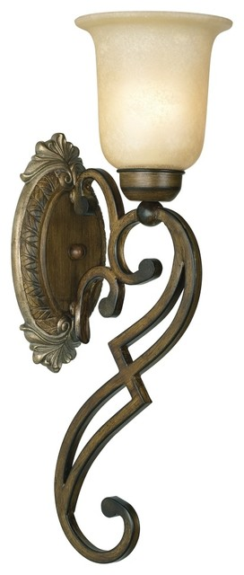 "Country - Cottage Belcaro Collection Walnut Finish 20 1/2"" High Wall Sconce traditional wall sconces"
