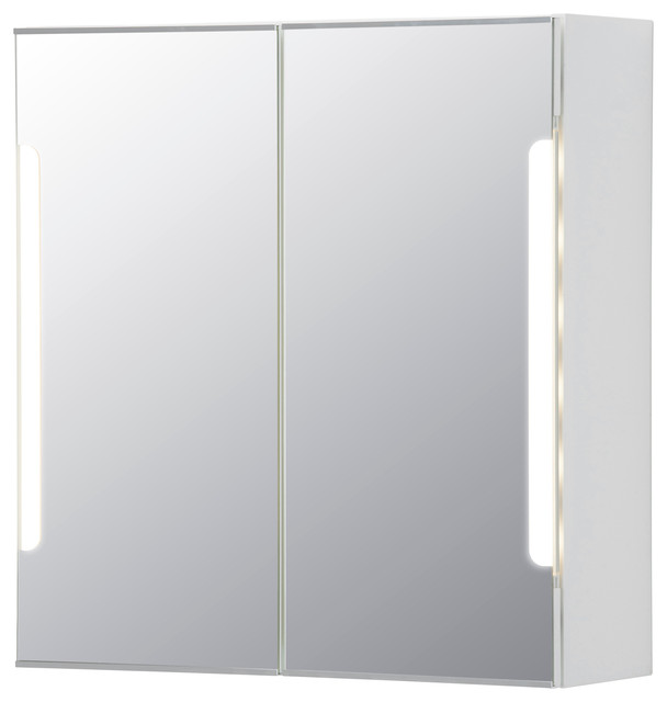 STORJORM Mirror Cab 2 Door Built In Lighting Contemporary Medicine Cabine
