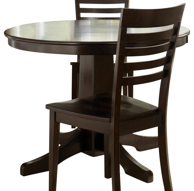 Liberty Furniture Cafe Collections Merlot 42 Inch Round Dining Table in Cherry, traditional-dining-tables
