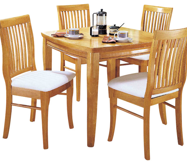 liz 3 piece dining room set in oak traditional dining sets