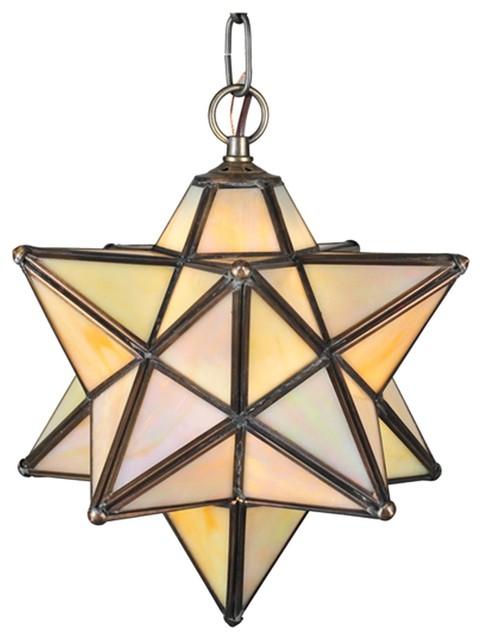 "Meyda Tiffany Moravian Star 9"" Modern / Contemporary Outdoor Pendant Light X-321 contemporary-ceiling-lighting"