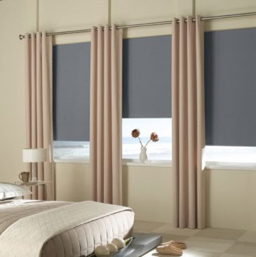 Blindsaver Basics Vinyl Blackout Roller Shade