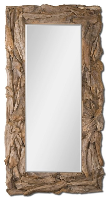 large teak root mirror rectangular rustic mirror 39x79