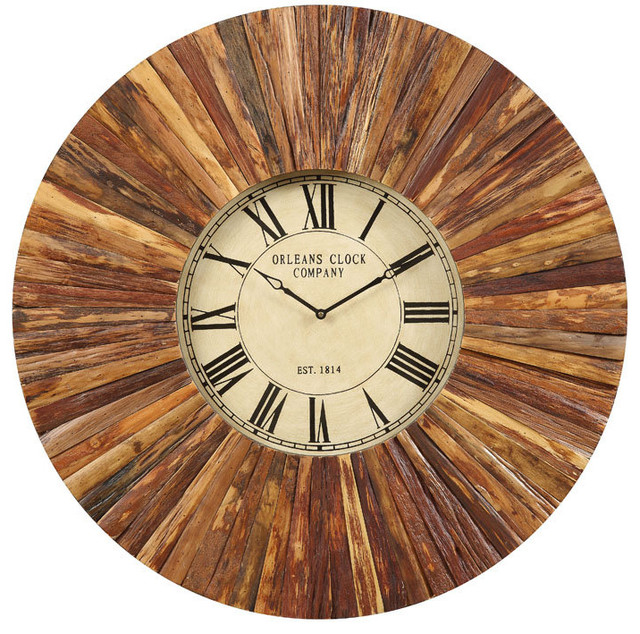 chatham large framed wall clock traditional wall clocks by brookstone