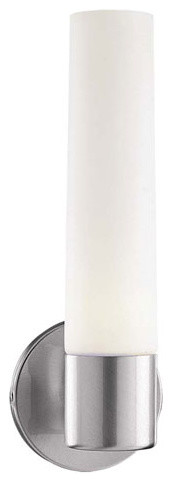 Saber Brushed Stainless Steel Bath Light Fixture modern-bathroom-lighting-and-vanity-lighting