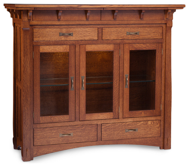 Maryan 3 door dining cabinet w 2 secret drawers for Woodbine storage