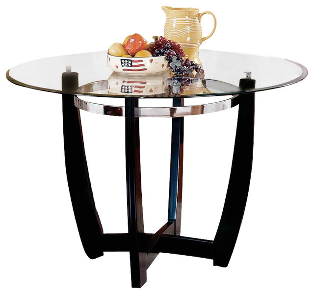 Steve Silver Company Matinee 48 Inch Round Glass Dining  : transitional dining tables from houzz.com size 640 x 598 jpeg 57kB