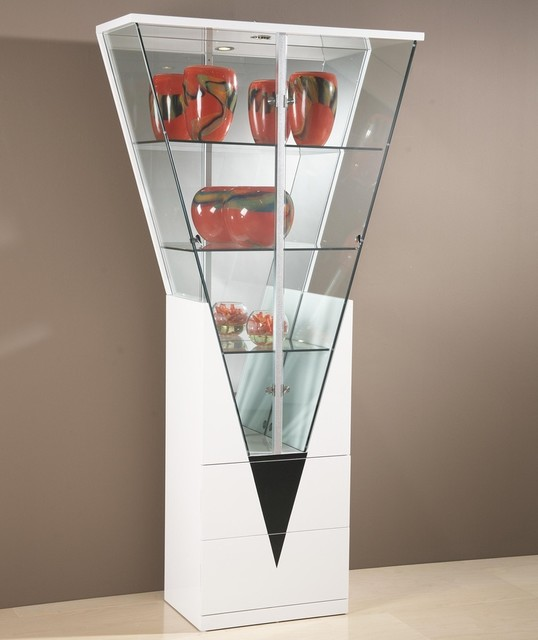Triangular Shaped Curio Cabinet - Contemporary - China Cabinets And Hutches - other metro - by ...